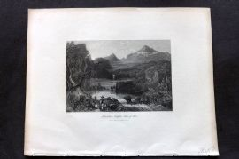Fisher (Pub) 1844 Antique Print. Mountain Temples, Lake of Aboo, India
